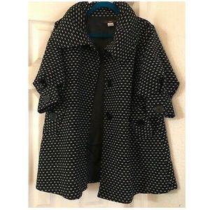 Anthropologie Jackets & Coats - Hazel Anthro Speckled Polka Dot  Swing Coat